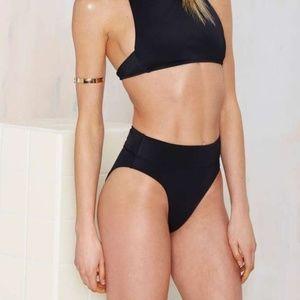 Nasty Gal deep water high waist bikini bottom
